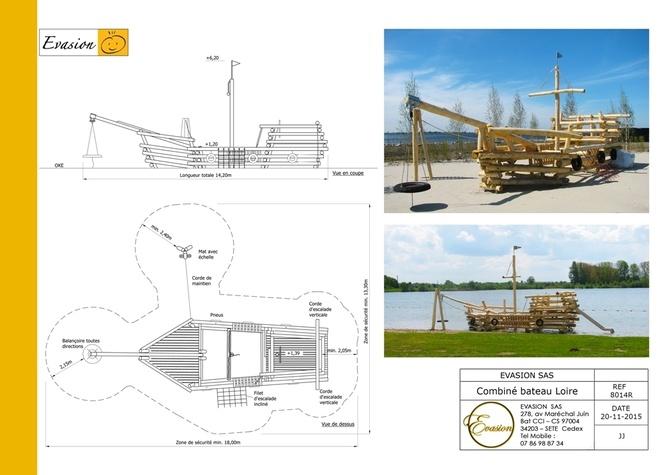 8014 - Combiné bateau Loire