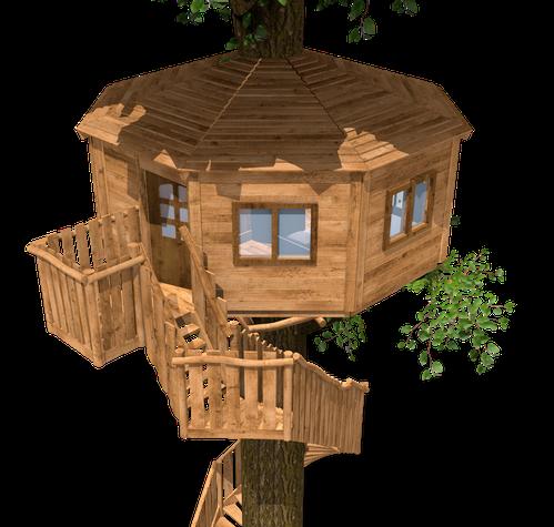 9401 - Chambre d'hotel dans l'arbre